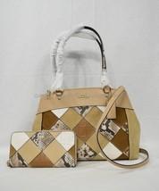 SET Coach F31533 Brooke Carryall Tote/Shoulder Bag +Wallet in Beechwood Multi - $449.00
