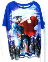 2 XL 2x Superman  Blue Graphic T-shirt tee - $19.79