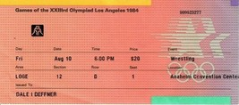 1984 USA Olympic Wrestling Ticket Stub Anaheim Convention Center August ... - $19.79