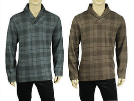 NEW MENS TASSO ELBA PRINTED PLAID SHAWL COLLAR PULLOVER SWEATER $75 - $357,49 MXN