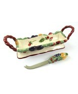 Napa Valley Noble Excellence Ceramic Cracker Serving Tray and Cheese Knife/Pick - $25.73