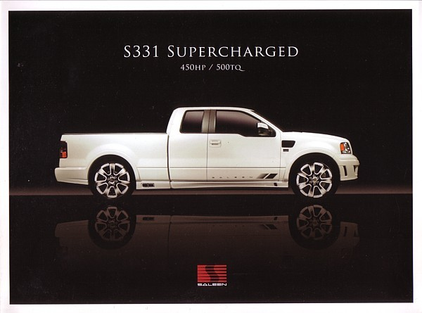 Primary image for 2007 Saleen S331 SUPERCHARGED sales brochure folder F150 07
