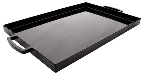 Zak Designs 19.5in x 11.5in Large MeeMe Serving Tray, Black LT