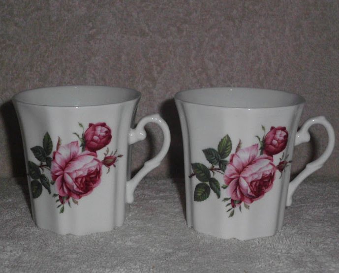 Royal Grafton Mug Set 2 Fine Bone China Tea Coffee Pink Rose