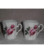 Royal Grafton Mug Set 2 Fine Bone China Tea Coffee Pink Rose - $25.00
