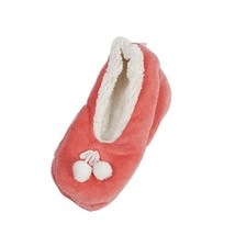 Indoor Use Plush Fleece Inside and Out Cushioned Footbed Slipper Cute De... - $8.01