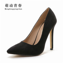 Slip Women Pumps Wedding on Shoes Toe Woman Ladie Pointed Heels 2018 Suede High fIpqwpOxU