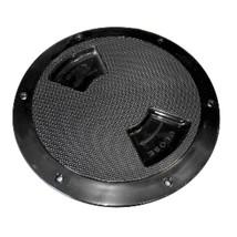 Sea-Dog Quarter-Turn Textured Deck Plate w/Internal Collar - Black - 6 - $26.94