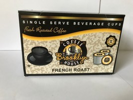 Brooklyn Coffeehouse French Roast non flavored 12 Single Serve K-Cups OK... - $9.99