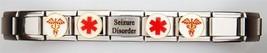 New Shiny Seizure Disorder Medical Laser Alert Italian Charm Bracelet Fr... - $19.99