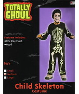 Child's Skeleton Halloween Costume Style 2, Medium 5-7, NEW UNUSED - $6.89