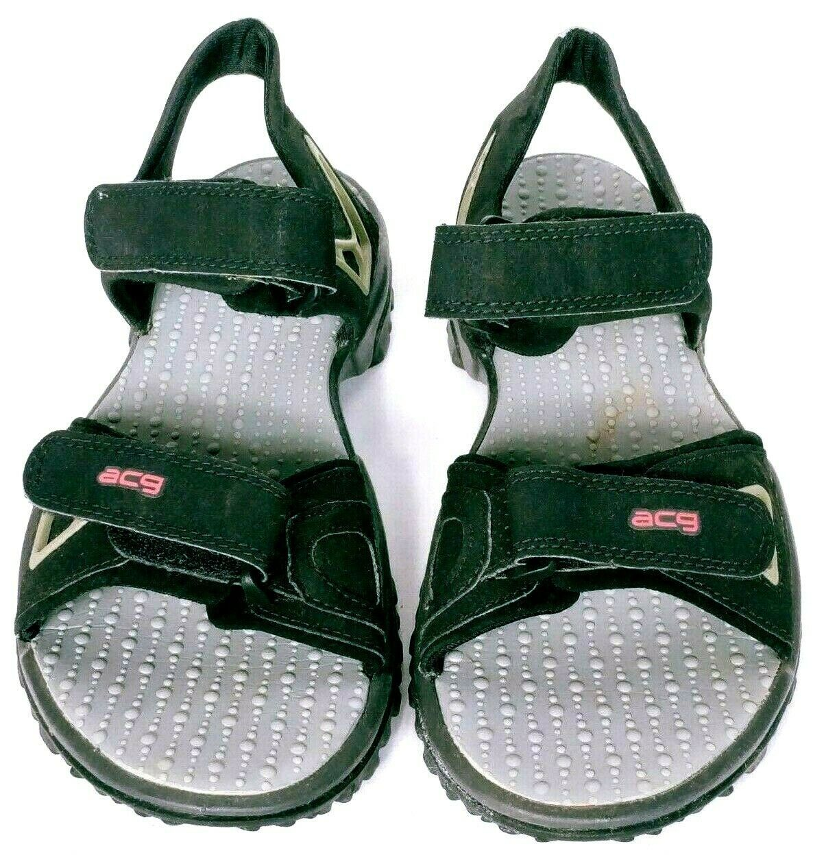 Nike ACG Mens Black Gray All-Trac Hook And Loop Sport Sandals Size 8