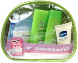 Travel Personal Care Kit For Woman On The Go 10 Piece, TSA Approved - $14.01