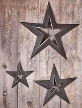 3 COUNTRY STAR SET - Rustic Metal Wall Hanging ... - $61.68