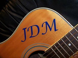 Guitar Decal Your initials SRV - $1.98