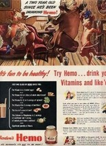 World War 2 Borden's HEMO Ad - $13.86