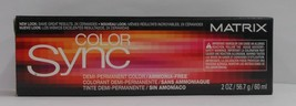 Matrix COLOR SYNC Demi-Permanent Ammonia Free Hair Color ~ Black Box ~ 2 fl oz!! - $5.40+