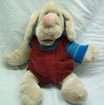 "Ganz 1981 Vintage Wrinkles The Dog In Overalls Hand Puppet 15"" Plush Stuffed Toy - $34.65"