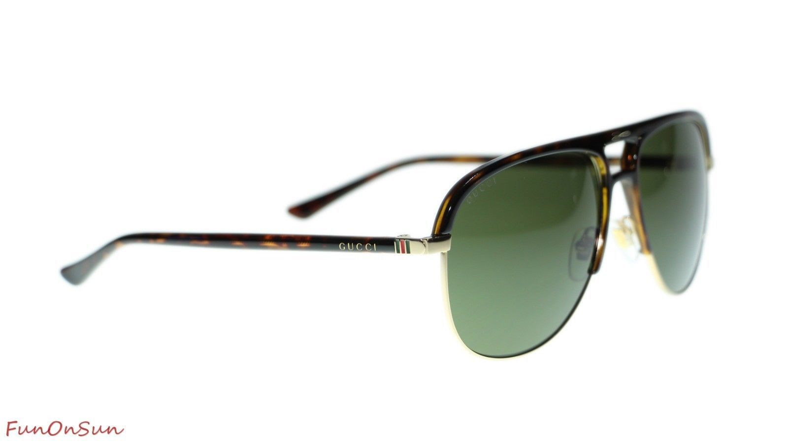 a31504e66fc0 NEW Gucci Men's Sunglasses GG0292S 003 Havana Green Lens Pilot 60mm  Authentic