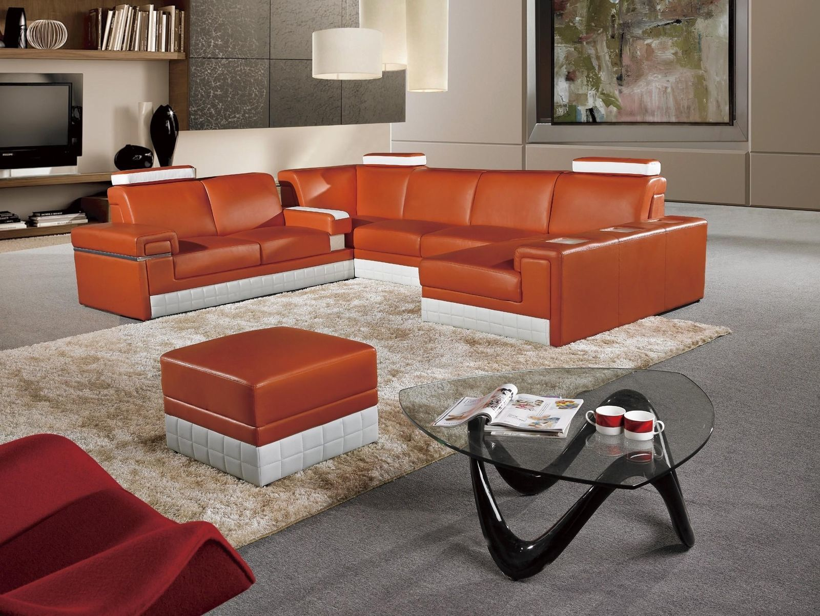 sectional leather this white off orange item bonded sofa p review and