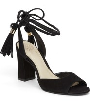 Vince Camuto Vianna Block Heel Wraparound Ankle Tie Sandal, Sizes 6-9 Black - $89.95