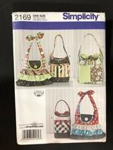 2011 Simplicity Sewing Pattern 2169 Bags Uncut - $5.89