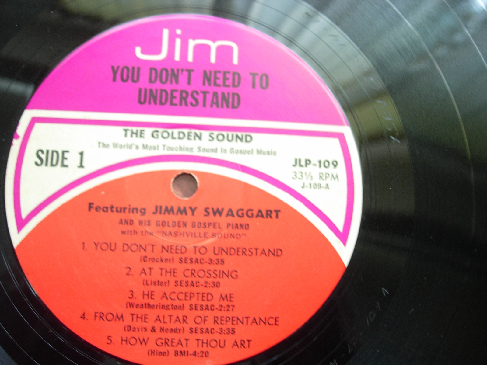 Jimmy Swaggart - You Don't Need to Understand - Jim Records LP 109