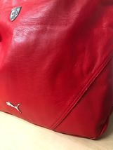 PUMA FERRARI WOMEN'S F1 TEAM SHOPPING TOTE LARGE BAG RED PMMO1033 NEW W/ DEFECTS image 6