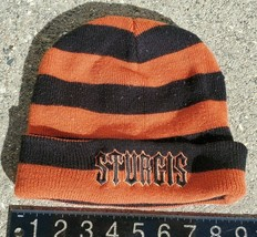 Sturgis Escapee Adult Beanie Orange Black Striped OC2B08 - $12.59