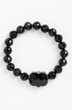 Ralph Lauren black crystal~black beaded stretch bracelet MSRP $48 - $22.76