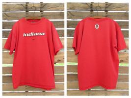 Nike Team IU Indiana Red Cotton Distressed T-Shirt Large - £3.06 GBP
