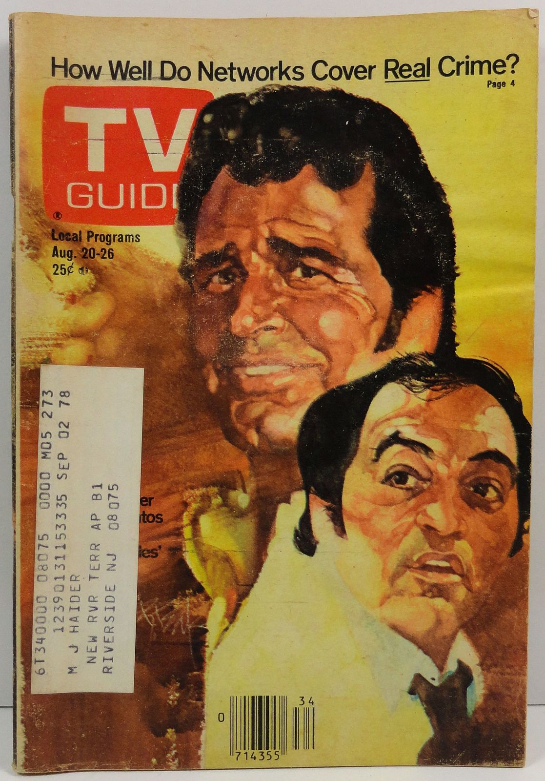 TV Guide Magazine August 20, 1977  James Garner Joe Santos