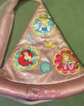 Pink Disneyland Princess Light Up Pointed Padded Glitter Hat w battery New WOT - $10.99