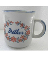 Original Mother Flower Power Collectible Ceramic Cup Made In Korea - $15.99