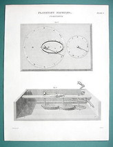 PLANETARY MACHINES Cometarium - (2) Two 1820 Engraving Prints by A. Rees - $17.99