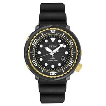 AUTHORIZED DEALER Seiko SNE498 Men's Black Rubber Solar Diver 47mm Watch - $334.13