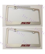 2X 3D Camaro Red SS Emblem Stainless Steel License Plate Frame Rust Free - $35.63