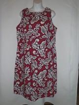 Vintage Hilo Hattie Womens Size 18 Pink Hawaiian Original Dress Floral Cotton - $27.83