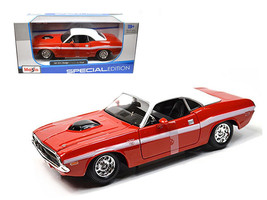 1970 Dodge Challenger R/T Coupe Red 1/24 Diecast Model Car by Maisto - $34.95
