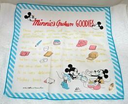 Older Mickey Minnie Mouse Hankie Recipe MWT Great Shape Walt Disney Production  - $34.65