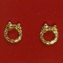 Avon Dainty Wreath Earrings Gold Plated Hypo Allergenic Nickel Free VTG ... - $19.77