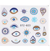 "HS Store -1pcs Nail Art ""STZ-823"" Cute Eyes Designs Nail Stickers Water ... - $2.51"
