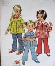 Vintage70s PatternToddler size 1 Smock Top BellBottoms S5219 - $6.95