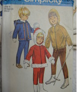 Vintage 60s Pattern Childs  4  Winter Jacket  Snow Pan S8473 - $9.95