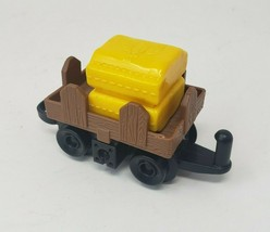 FISHER PRICE GEO TRAX BROWN CART VEHICLE W/ YELLOW WHEAT REPLACEMENT PAR... - $9.50