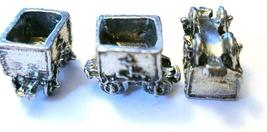 ORE CAR FIGURINE CAST WITH FINE PEWTER - Approx. 3/4 inch Long   (T160) image 3