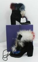 Stuart Weitzman Women's Yukon Fur Booties, Boots Nero, Size 6.5 NEW - $420.75