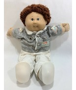 Vtg 1986 Cabbage Patch Kids Auburn Brown Hair w/Outfit Gray Jacket Shoes... - $22.76