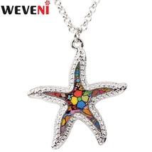 Etal starfish necklace pendants choker chain collar ocean animal jewelry for women girl thumb200