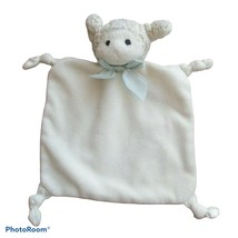 Blankets and Beyond Bearington lamb Sheep Security Blanket White knotted... - $12.86